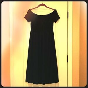 Blue Smocked Dress- Size Small